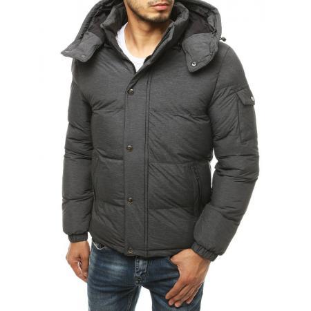 Pánska bunda zimná prešívaná šedá tx3491