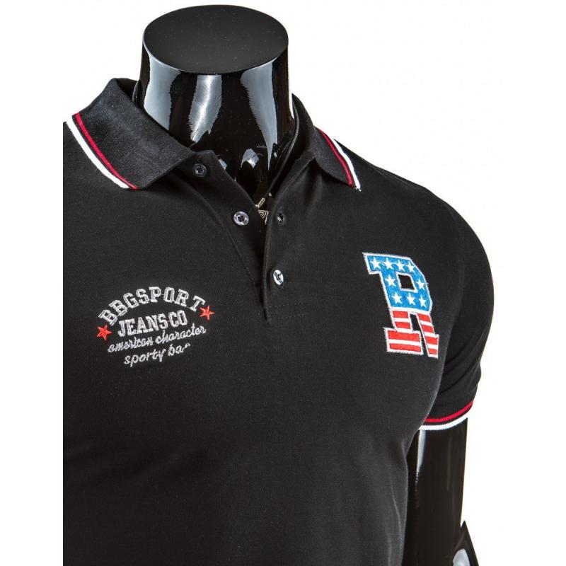 e3328d6ae2ec Pánske polo tričko s krátkym rukávom čierne
