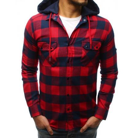 012a857e0df3 Pánska STYLE košeľa pruhovaná modro-červená