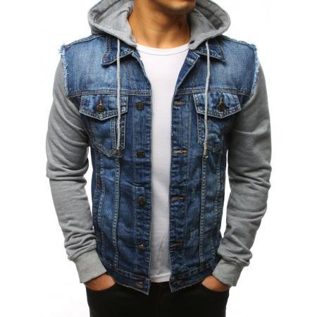 Pánska bunda džísky modrá 386dcec3cb