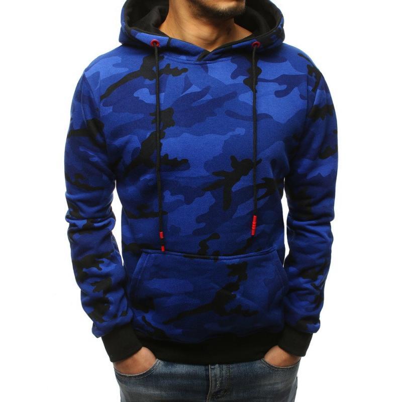 Pánska mikina CHOICE s kapucňou modrá  468e50fe1ed
