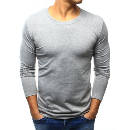 Pánske šedé tričko s dlhým rukávom