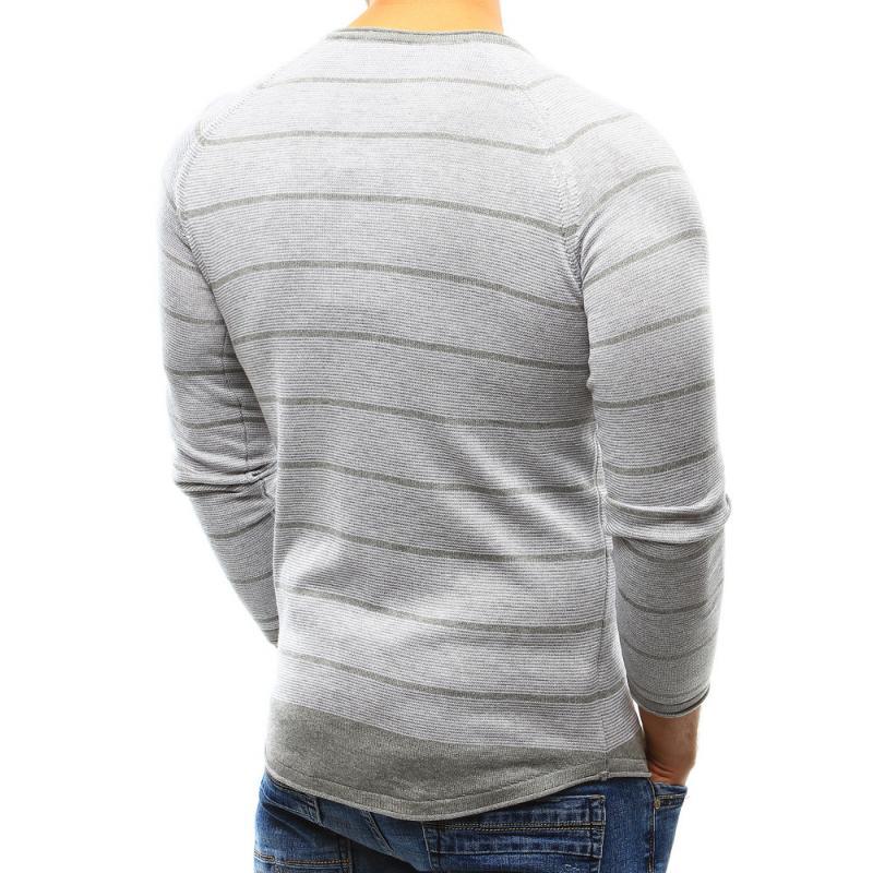 932c2504e9c2 Pohodlný pánsky sveter v šedej farbe
