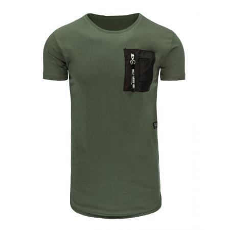 Pánské tričko bez potlače zelené 990af2e2c9c