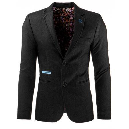 Štýlové pánske sako čierne