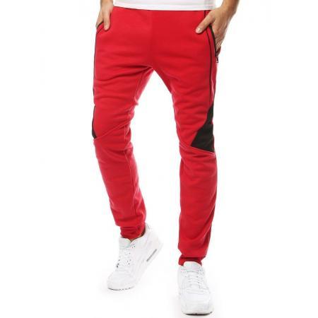 Pánske nohavice tepláky červené