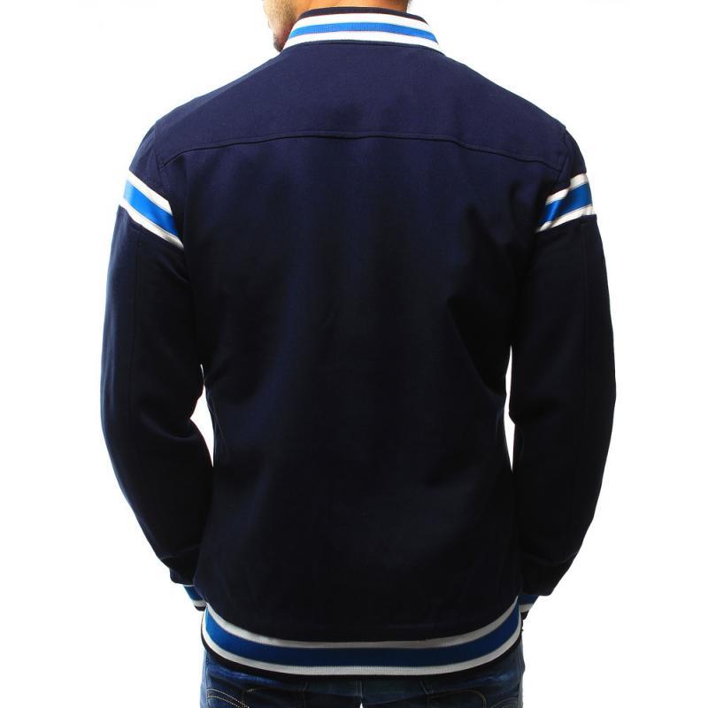 Pánska baseballová bunda v tmavo modrej farbe  de3cf8dc89a