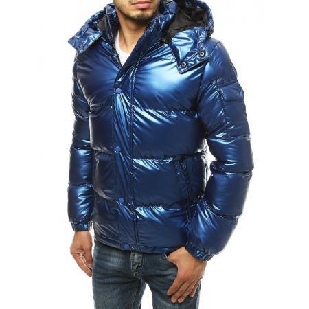 Pánska bunda zimná prešívaná modrá tx3497