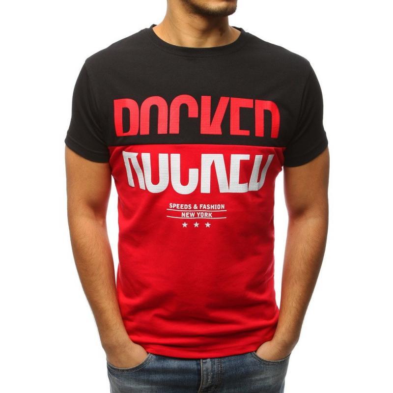2c5fc793654a Pánska tričko MODERN s potlačou čiernej
