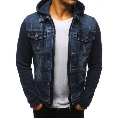 Pánska džínsová bunda modrá