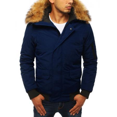 Zimná pánska bunda WINTER tmavo modrá