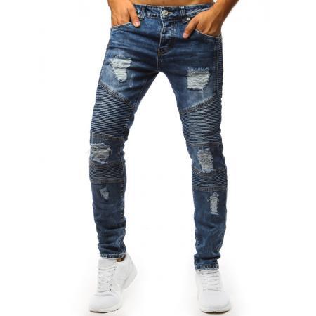 Pánske jeans nohavice STYLE modré