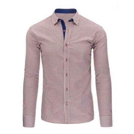 7f5bee44e3b4 Pánska štýlová košeľa modrá s dlhým rukávemslim fit