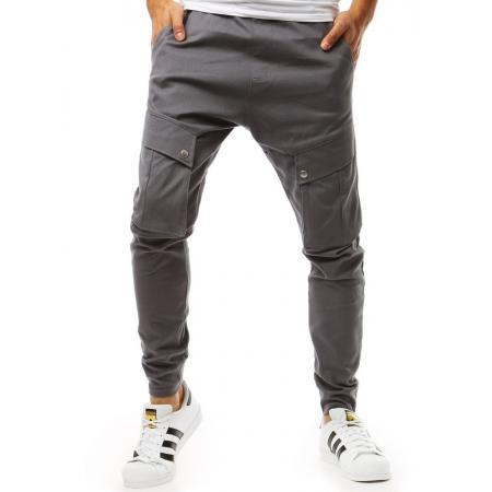 Pánske nohavice jogger šedé