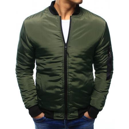 Pánska bunda bomber jacket zelená