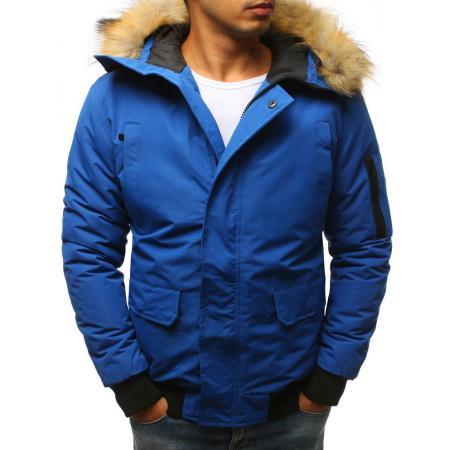 Pánska zimná bunda, nebesky modrá
