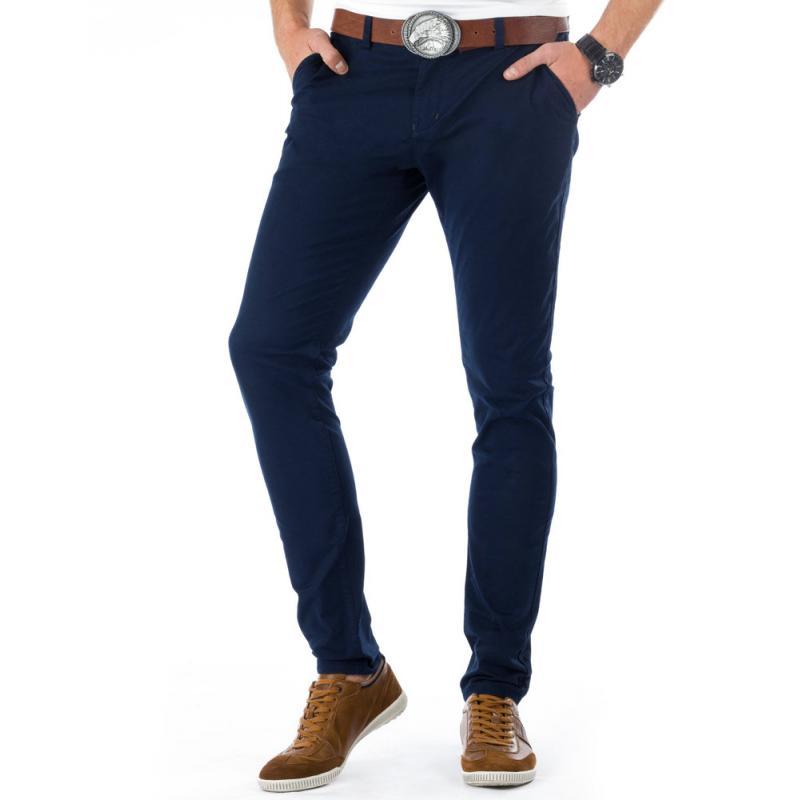 bac26bafdcd6 Pánske originálne nohavice tmavo modré (námornícka)