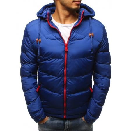 Pánska bunda zimná WINTER prešívaná modrá