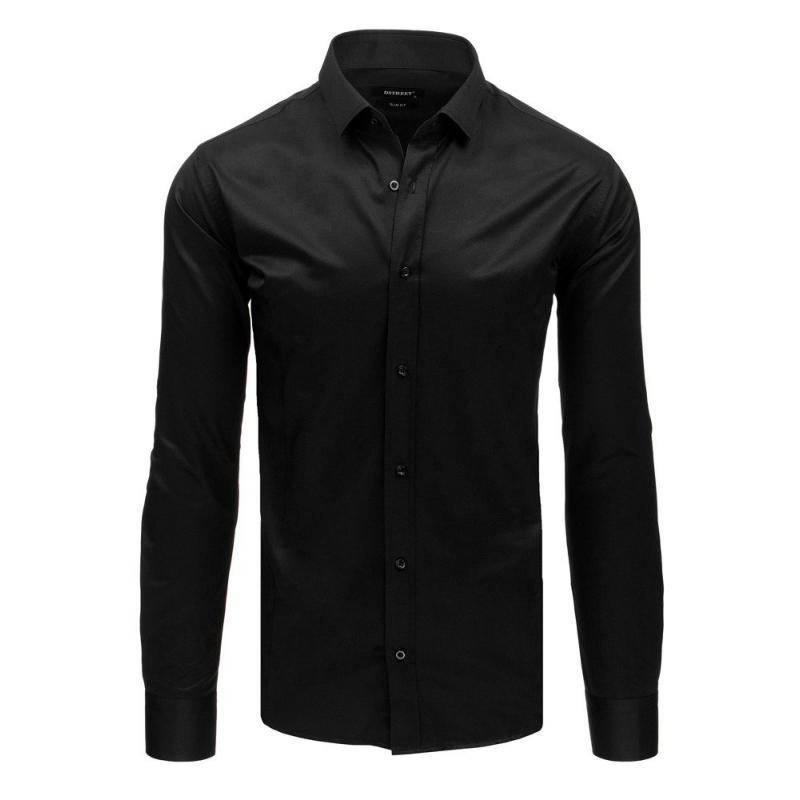 08145ad79298 Pánska elegantná košeľa s dlhým rukávom čierna