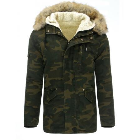 Pánska parka (zimná bunda) - maskované