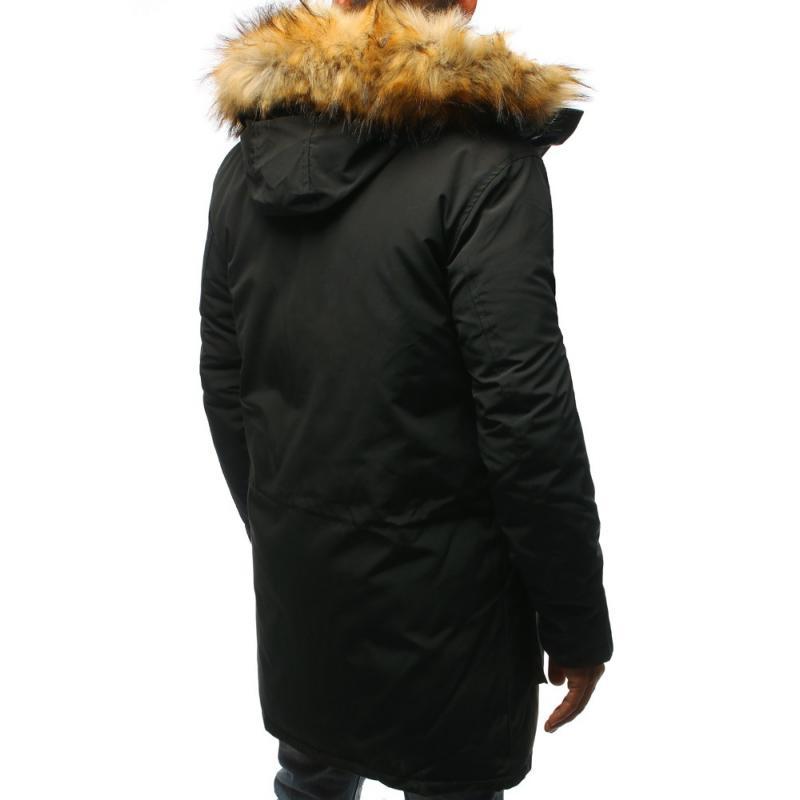 Pánske zimné parka bunda antracitová  1a334b95998