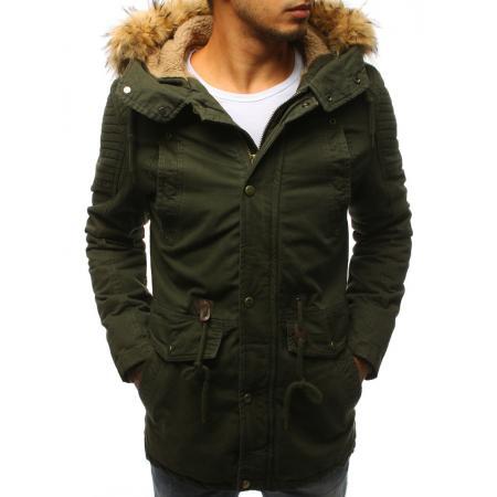 Pánska zimná parková bunda zelená