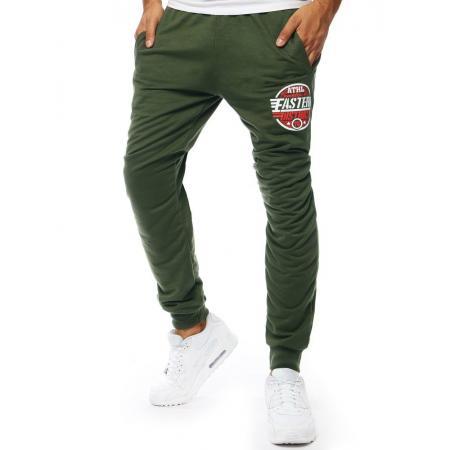 Pánske nohavice tepláky jogger zelené
