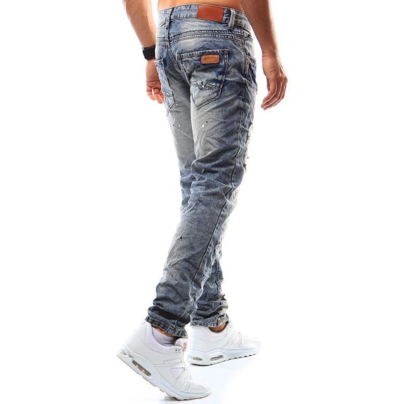 824890c45 Pánske riflové nohavice modré | manSTYLE.sk