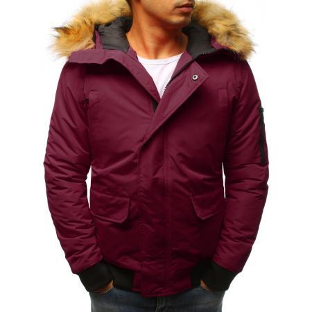 Pánska zimná bunda bordó