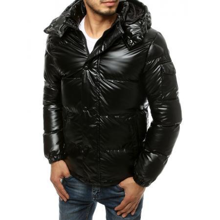 Pánska bunda zimná prešívaná čierna tx3496
