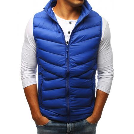 e2bfed43c961 Pánska vesta STYLE prešívaná modrá