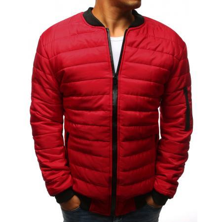 Pánska STYLE bunda prešívaná bomber jacket červená