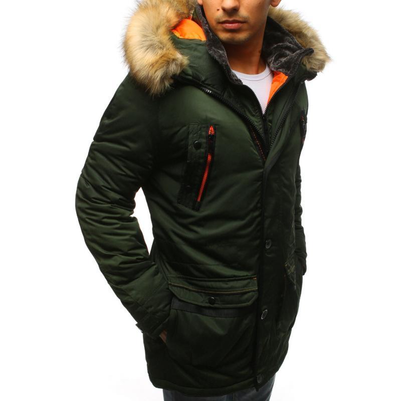 Pánska zimná bunda zelená  0c428e88f4a