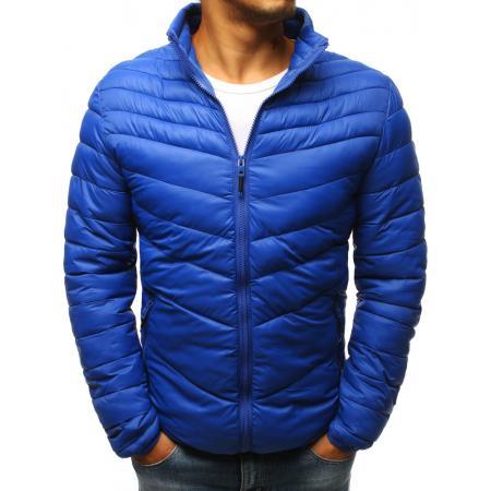 Pánska STYLE bunda prešívaná modrá 4aa3e56326