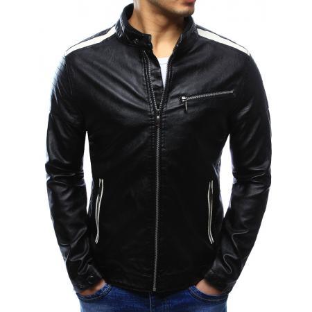 Pánska štýlová bunda koženka čierna