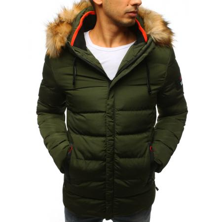 Pánska zimná bunda prešívaná zelená