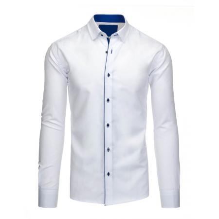 4311e09263ac Pánska spoločenská košeľa v bielej farbe