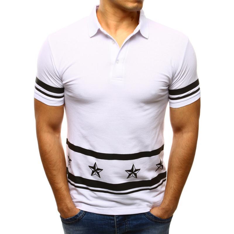 12a0a6c2f7d2 Pánske polo tričko s krátkym rukávom biele