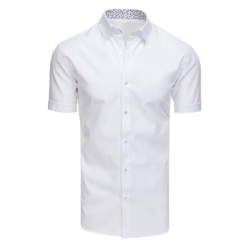 be49e479320f Elegantná pánska košeľa s krátkym rukávom biela