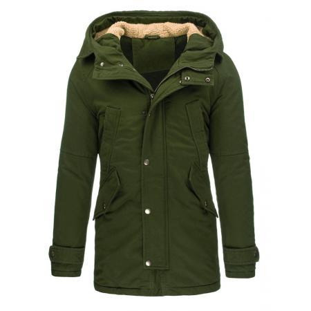Pánska štýlová zimná bunda olivová
