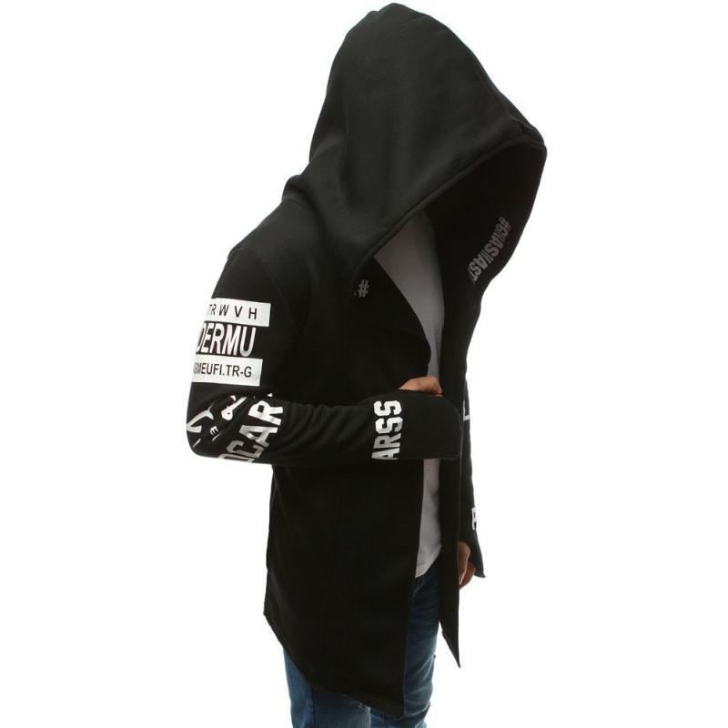 a9047a55c16c Pánska NEWSTYLE mikina dlhá s kapucňou čierna