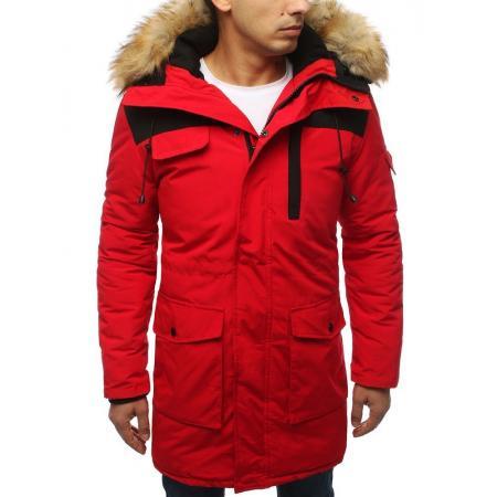 Pánska bunda zimná červená