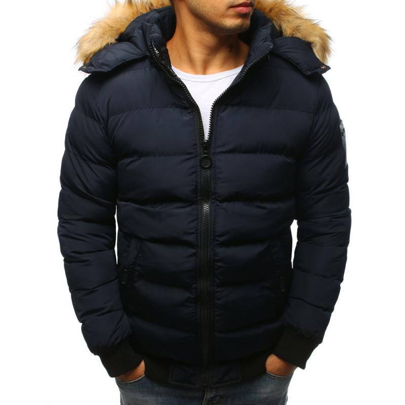 54f287a9c6 Pánska zimná bunda prešívaná granátová