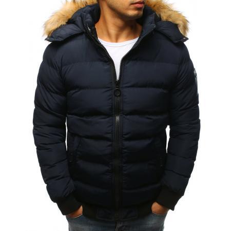 Pánska zimná bunda prešívaná granátová