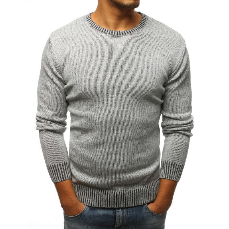 f7514671fc0b Pánsky sveter šedý
