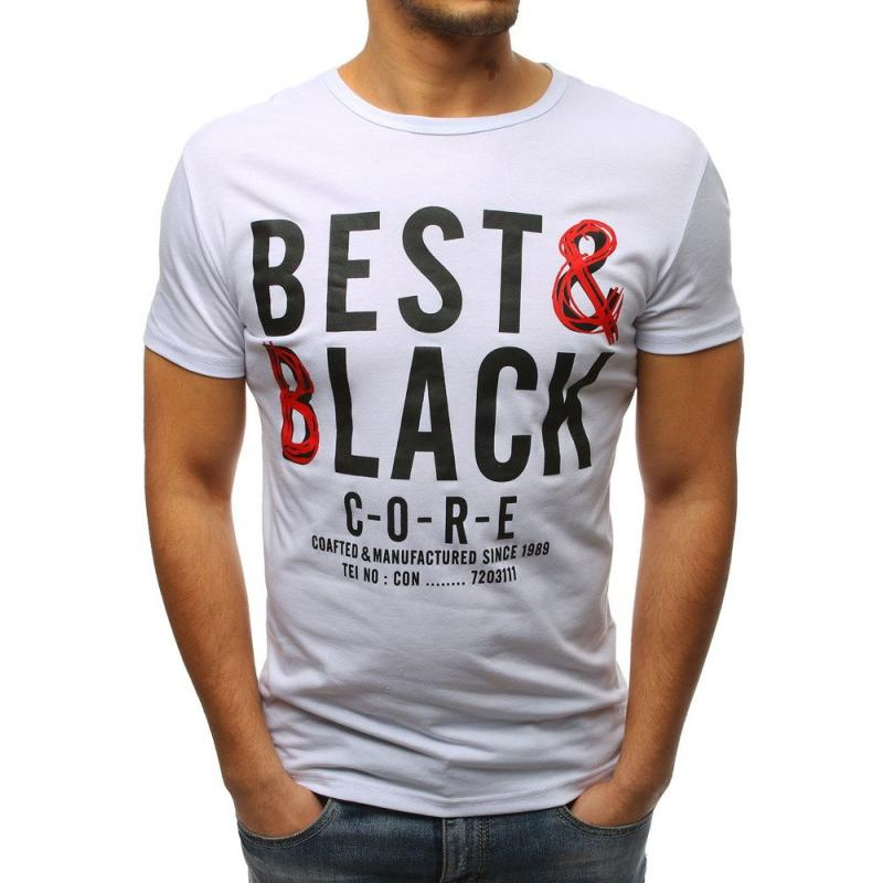 26d61455c9 Pánske tričko s potlačou bielej