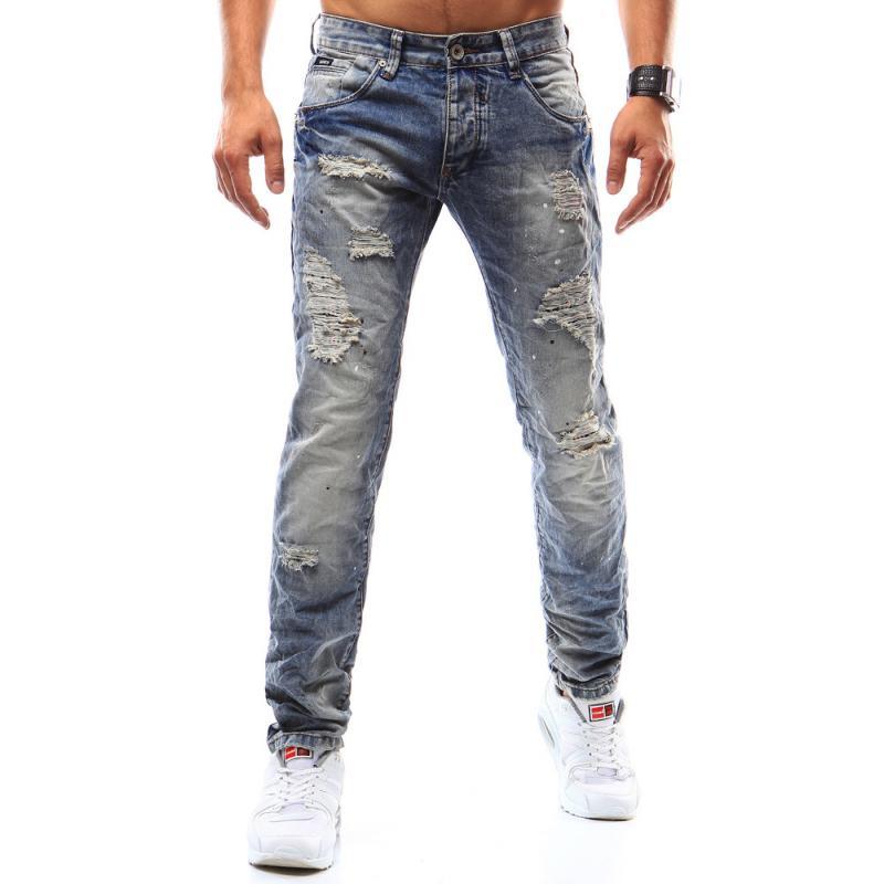 091c49e14cb2 Pánske riflové nohavice modré