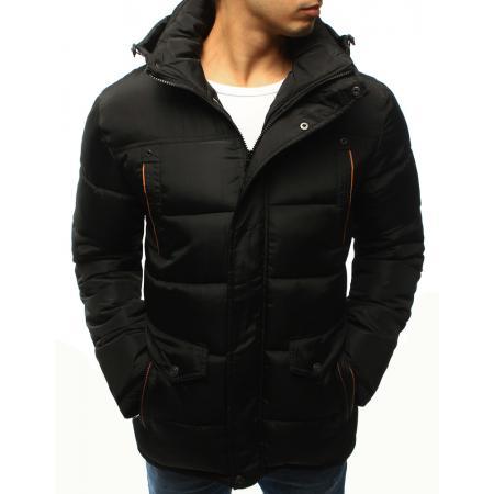 Pánska bunda zimné čierna