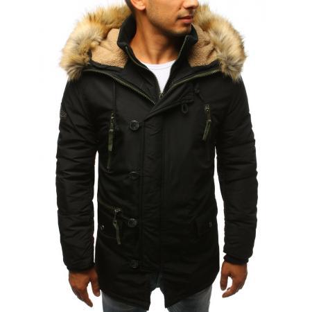 Pánska MODERN bunda parka zimná čierna