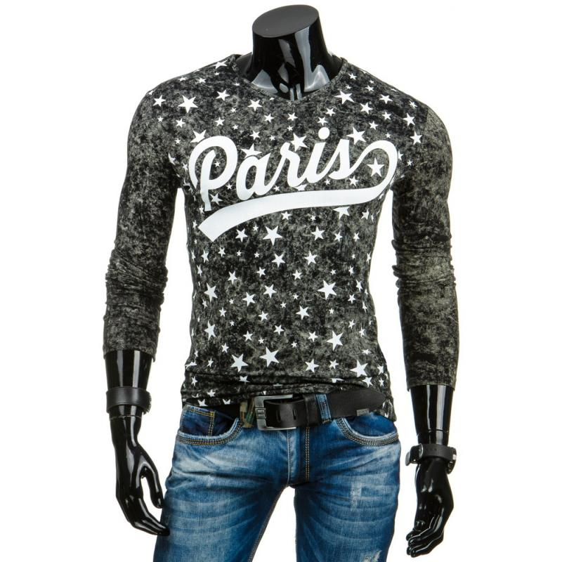 Pánske tričko s potlačou (Longsleeve) čierne  866c751641e